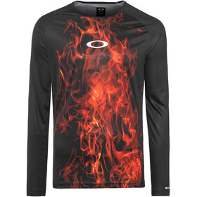 Oakley MTB LS Tech Tee Men flames